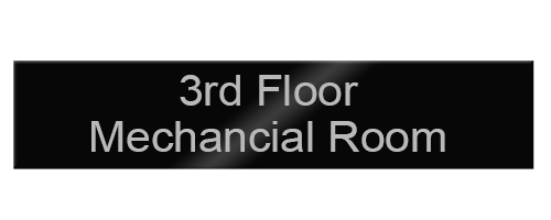 10x2 engraved aluminum nameplates in vibrant colors and personalized for employees, offices, lobbies and more. Low prices and fast shipping from NapNameplates.com