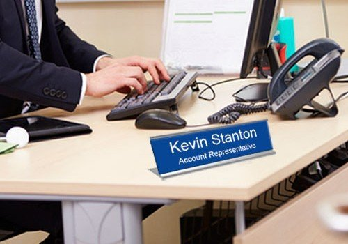 Engraved nameplates made of metal or plastic and precision engraved into vibrant, durable finishes. Easily slide into name plate holders for doors, desks and walls. NapNameplates.com