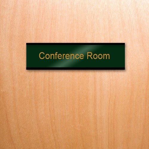 Engraved brass nameplates for executives, offices or any professional workplace. 5 Colors of brilliant brass are precision engraved in a variety of fonts. Low prices and fast shipping. NapNameplates.com